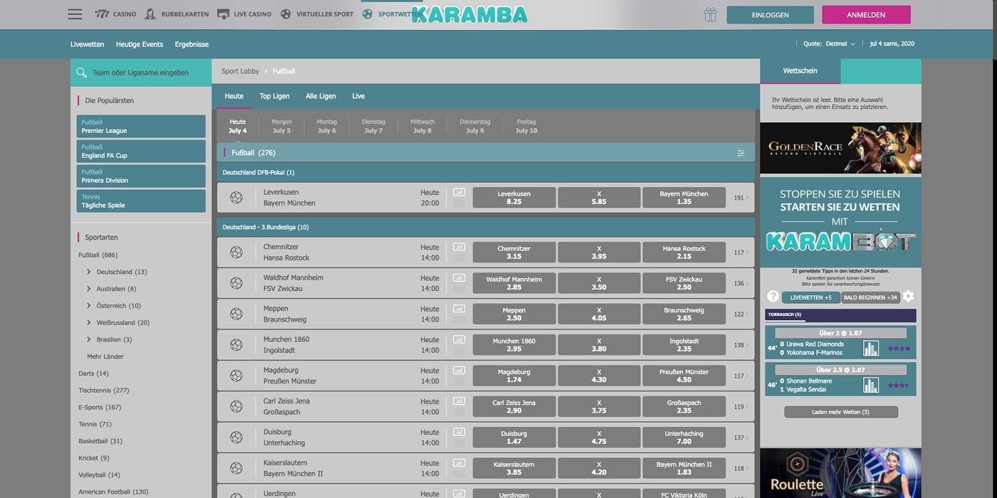 Fussballwetten Karamba