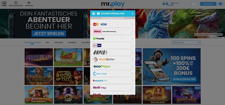 Einzahlen Mr Play Casino