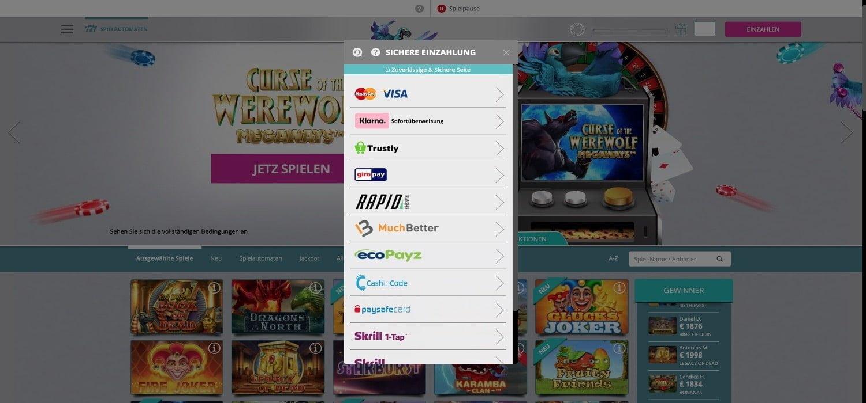 Einzahlen Karamba Casino