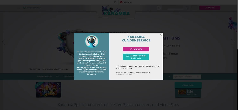Kundenservice Karamba Casino