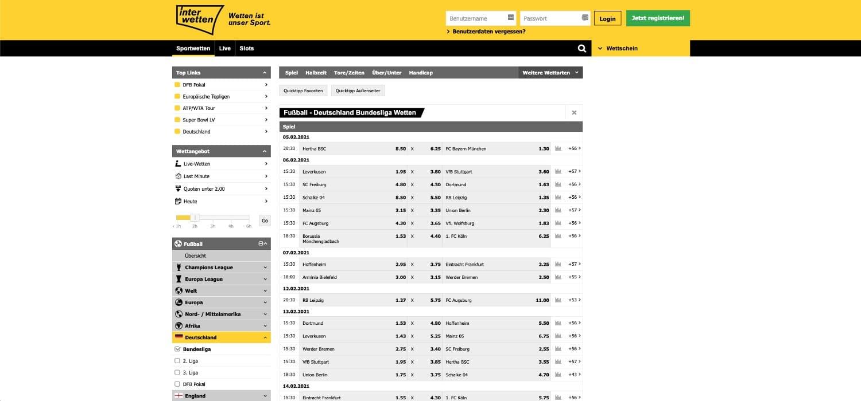 Interwetten Bundesligawetten