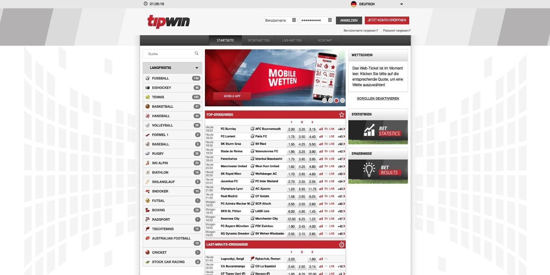 Tipwin Sportwetten