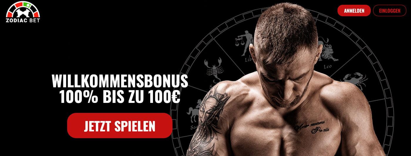 Zodiac Bet Sportwetten Bonus